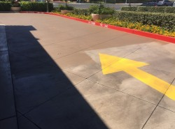 Commercial concrete driveway staining