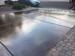 Concrete Driveway Staining and Urethane Sealer .