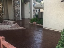 Concrete Patio Staining and urethane Sealer
