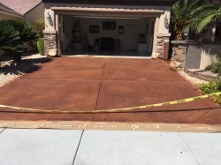 Concrete staining and Urethane Sealer