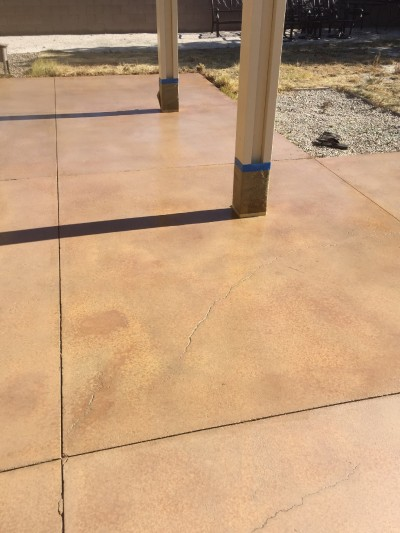 Concrete Patio Staining