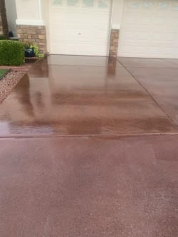 Concrete Driveway Staining and Urethane Sealer