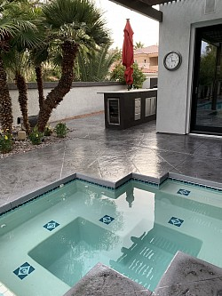 Concrete Stain pool deck