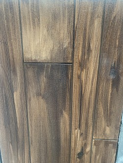 Concrete overlay - wood look.